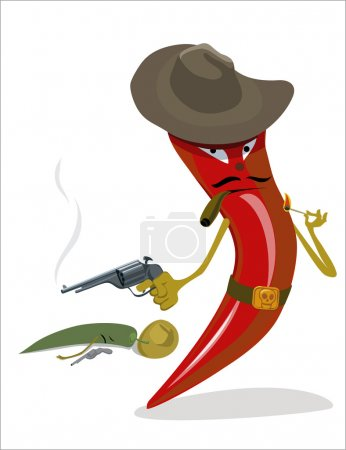 tough red chili pepper gangster