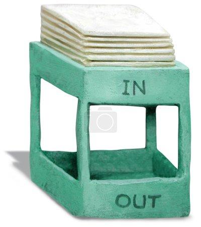 Photo pour Sculpture 3D de la boîte de réception - image libre de droit