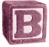 Photograph of Magenta Wooden Block Letter B