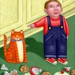 Illustration of Darn Cat...