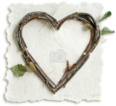 Natural Twig and Stick Heart