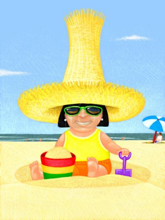 Illustration of Sun Sreen