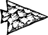 Woodcut Illustration of Arrowhead