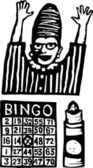 Woodcut Illustration of Bingo
