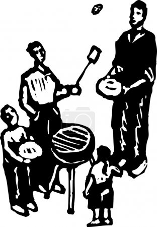 Vector illustration of Backyard BBQ