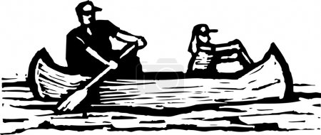 Vector illustration of Canoeing