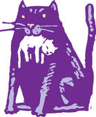 Woodcut illustration of Cat