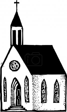 Vector Illustration of Church