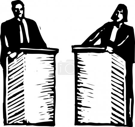Vector Illustration of Political Debate