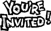 Woodcut Illustration of You're Invited