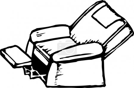 Woodcut Illustration of Easy Chair