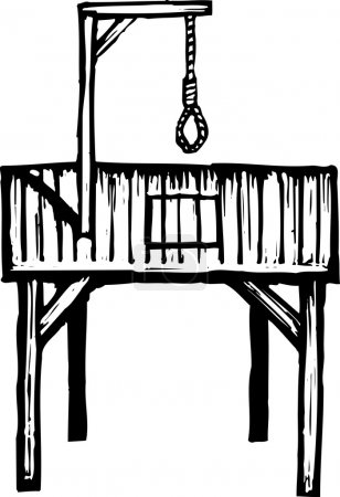 Woodcut Illustration of Gallows
