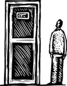 Woodcut Illustration of Secret or Private Entrance
