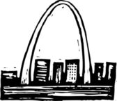 Woodcut Illustration of St Louis Arch