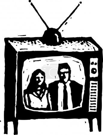 Illustration des Fernsehens