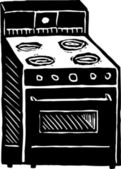 Woodcut Illustration of Stove