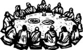 Woodcut Illustration of The Last Supper