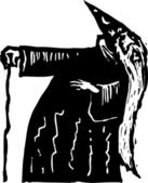 Woodcut Illustration of Merlin