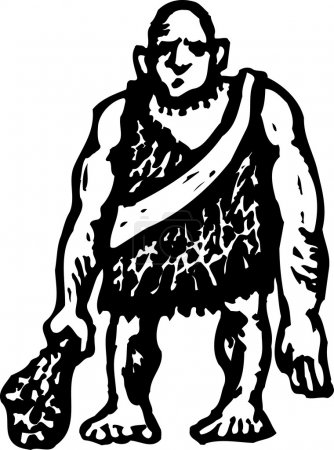 Illustration for Woodcut Illustration of Ogre - Royalty Free Image