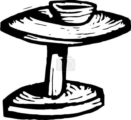 Illustration pour Illustration de la roue du potier - image libre de droit