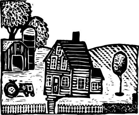 Illustration von Bauernhof