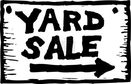 Vector Illustration of Yard Sale Sign
