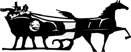 Vector Illustration of Sleigh Ride