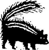Vector illustration of Skunk