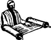 Vektoros illusztráció a Tórah Rabbi Reading
