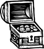 Vector Illustration of Treasure Chest