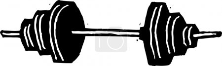 Vector Illustration of Barbell