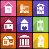 House and Building icon set