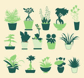 Plant silhouette collection - Illustration