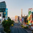 View of Las Vegas Strip. Street filled with many c...