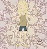 Zodiac sign Capricorn Cheerful girl eps10