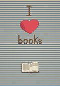 Retro poster I love books