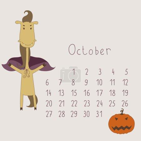 Calendar for October 2014.