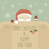 Greeting Christmas and New Year card with Santa Claus A new series of Christmas cards