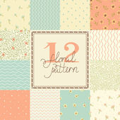 12 Cute different vector seamless patterns