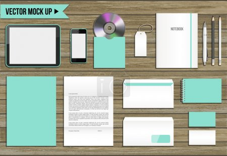 Vector corporate identity mock up.