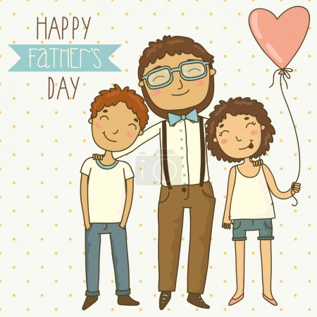 Illustration for Fathers day greeting card - Royalty Free Image