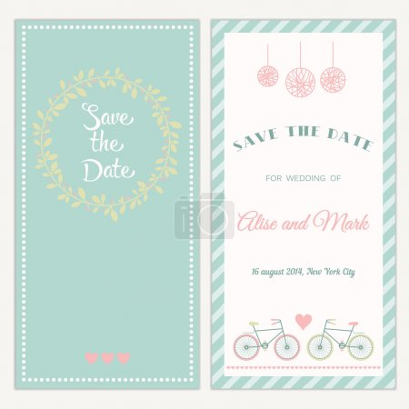 Illustration for Two sides of the wedding invitation - Royalty Free Image