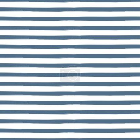 Illustration pour Motif rayé sans couture inspiré de l'uniforme marine dans les nuances de bleu aqua. Texture pour web, impression, papier peint, décor à la maison, tissu de mode printemps été, textile, invitation ou fond de site Web . - image libre de droit