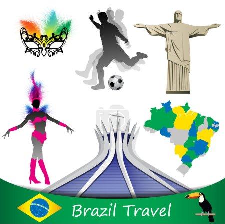 Brazil travel, vector