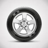 Detailed vector car tire