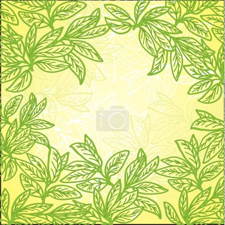 Illustration for Openwork pattern of leaves against the sun - Royalty Free Image
