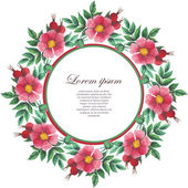Watercolor pattern with wild rose for cards invitation