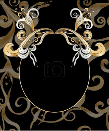 Illustration for Floral ornamental decorative frame - Royalty Free Image