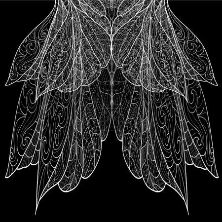 Illustration pour Modèle de dentelle sans couture - image libre de droit