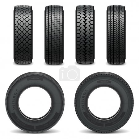 Vector tire icons
